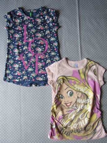 Lote 2 T-shirts Benetton 5 Anos