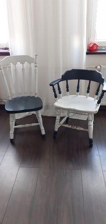 Dwa krzesła dębowe