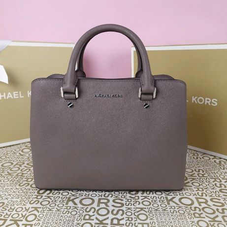 Кожаная сумка Michael Kors savannah md cinder оригинал Майкл Корс
