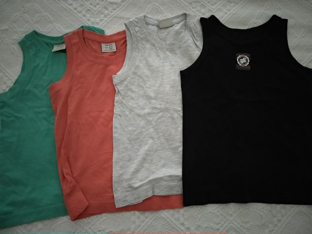 T-shirts manga cava para menino 4/ 5 anos