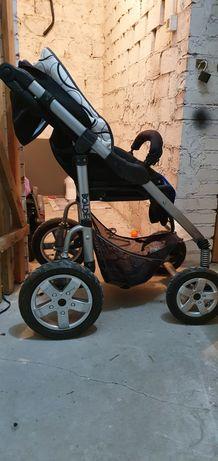 Wózek używany koła pompowane