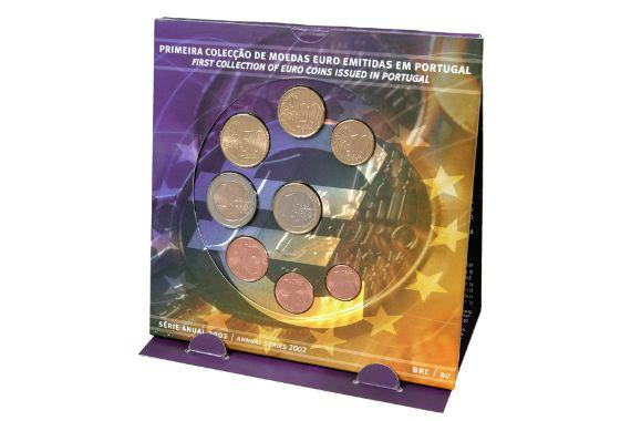 SÉRIE ANUAL 2002 (BNC) - 1ª Coleção EURO - Casa da Moeda - 2002