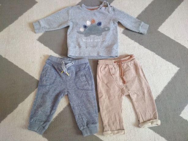 Spodnie 2szt i bluza H&M r.68