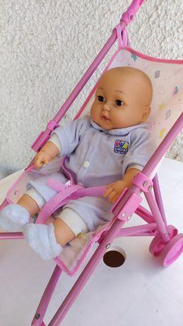 Bebé Chorão c/ Carrinho de Bebé - Impecável
