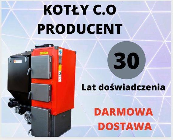 KOCIOŁ do 95 m2 Kotly 15 kW Piec na EKOGROSZEK z PODAJNIKIEM 12 13 14