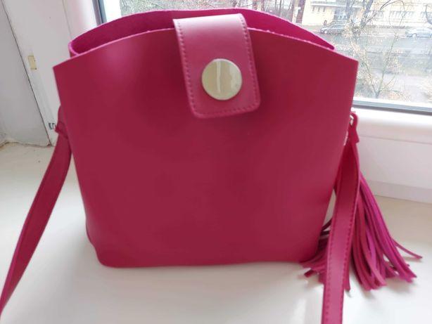 Shopper bag Reserved listonoszka fuksjowa różowa fuksja