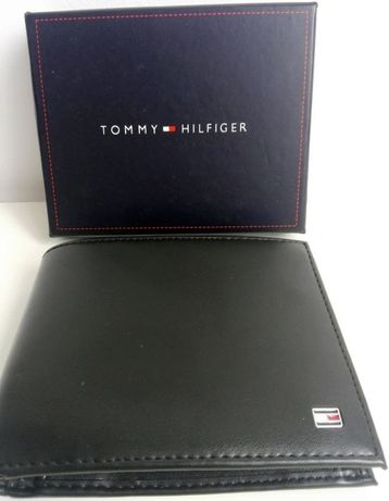 UWAGA! Elegancki męski skórzany portfel Tommy Hilfiger TH pobranie