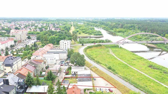 Działka 566 m2 Ostrołęka. Widok na Narew. Mieszkaniowo - usługowa