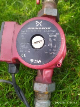 Pompa wody, Grundfos, bojlera