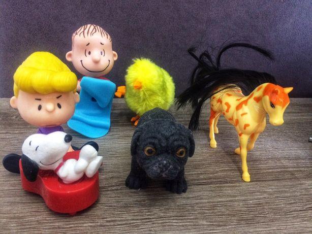 Игрушки для новорожденных, самых маленьких, собачка, лошадка, цыплёнок