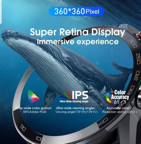 Smartwatch L 16 360x360 Wyświetlacz Retina