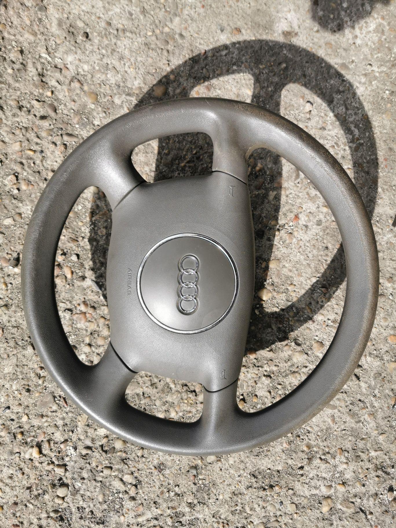 Audi A6C5 kierownica i lewarek zmiany biegów.