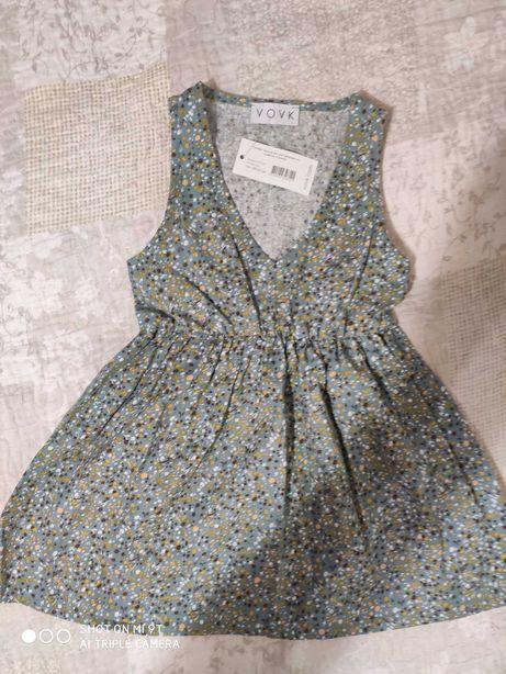 Новое платье-сарафан бренда Vovk, Лен, рост 92, на 2 года.