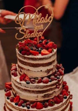 Topper na tort  Miłość jest Słodka