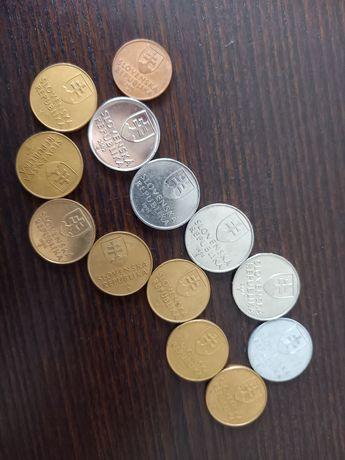 Монеты Словакия разный номинал