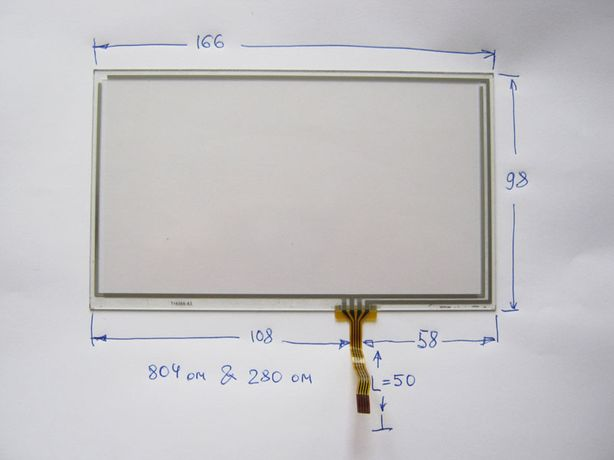 Дисплей/тачскрин/сенсор 7 дюймов тип 6