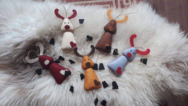 Renifery duże dekoracje zabawki zawieszki ozdoby bożonarodzeniowe