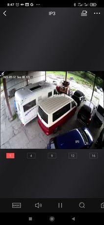 Zadaszone oświetlone monitorowane miejsce parkingowe Kamper przyczepa