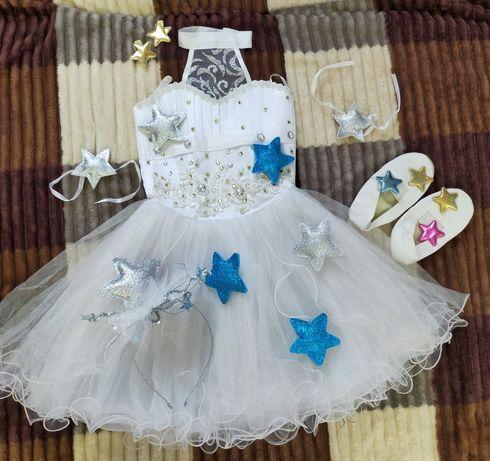 Детское нарядное платье Звездочка