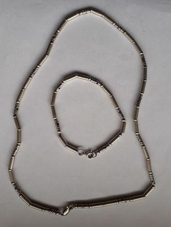 srebrny lancuszek z bransoletka proba 925 o189