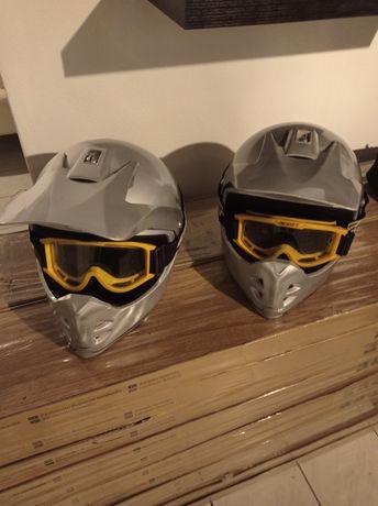 2 capacetes + óculos