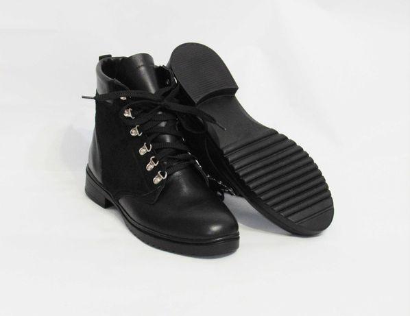 Шкіряні зимові ботінки, зимние ботинки, кожанные ботинки,жіноче взуття