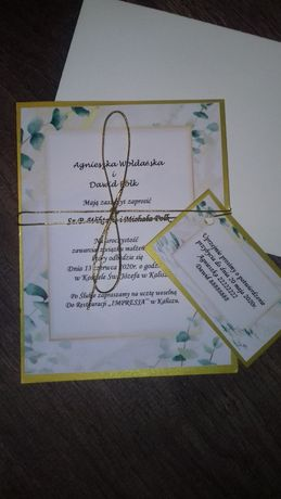 Zaproszenia komunia 18 ślub urodziny chrzciny