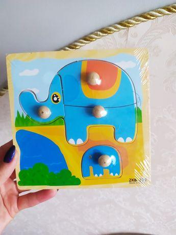Дерев'яна іграшка вкладиш для найменших сортер перші пазли для малюків