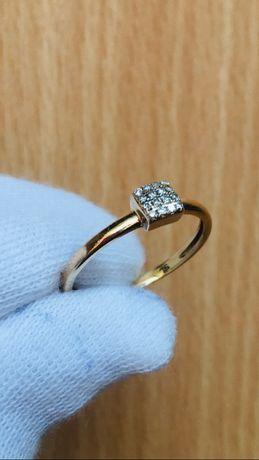 Кольцо колечко золоте золотое з діамантами с бриллиантами