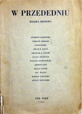 W przededniu - książka zbiorowa New York 1944