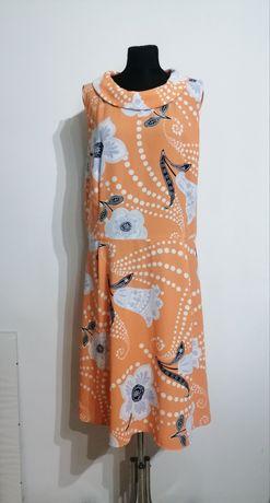 TU modna sukienka koralowa kwiaty 42