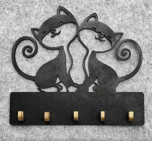 Ключница с котами для ключей в дом квартира