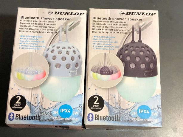 Głośnik bluetooth prysznicowy Dunlop LED biały