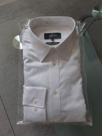 Biała koszula | Bytom | długi rękaw | wyszczuplona | roz. 40 188/194