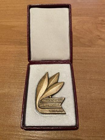 Medal 100- lecie sportu Warszawskiego 1978. Mennica Warszawska