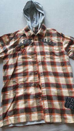 Koszula flanelowa z kapturem roz. 158