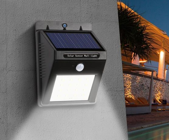 Светильники LED на СОЛНЕЧНОЙ батарее и с ДАТЧИКОМ движения! Яркие.