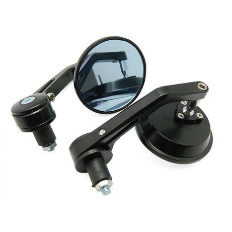 Espelhos de punhos, invertidos, estilo cafe racer