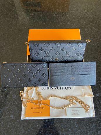 Pochete Felicie Louis Vuitton Couro C/Cx- Nova