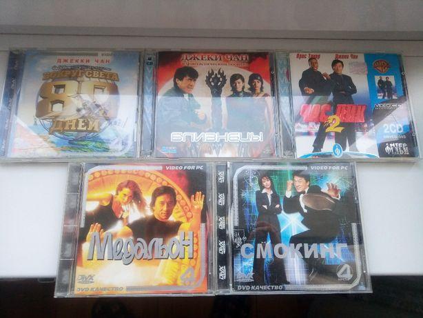 """CD фильмы с Джеки Чаном """"Медальон"""" """"Смокинг"""" """"Вокруг света за 80 дней"""""""