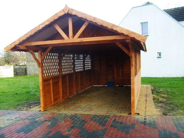 Wiaty drewniane,garaż drewniany,budynki gospodarcze,magazyn,wiata,3x6m