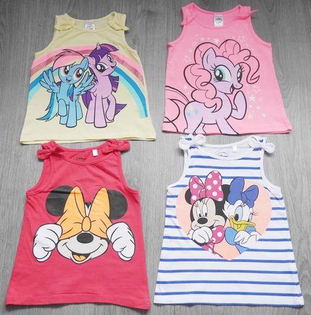 4 pak koszulek 104 c&a myszka minnie i my little pony