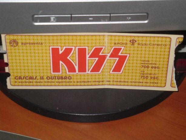 Bilhete concerto KISS Cascais 1983