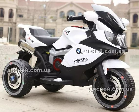 Детский мотоцикл BMW 3680 WHITE, электромобиль, Дитячий електромобiль
