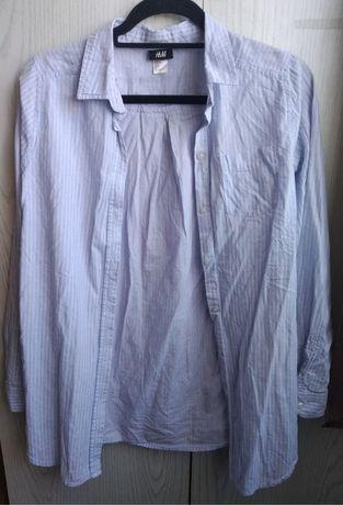 Niebieska koszula damska z długimi rękawami - rozmiar 34 H&M