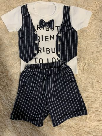 Костюм на мальчика, футболка и шорты, стиляга