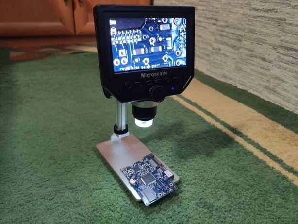 Микроскоп цифровой для пайки g600 с экраном 4,3 (не копия)