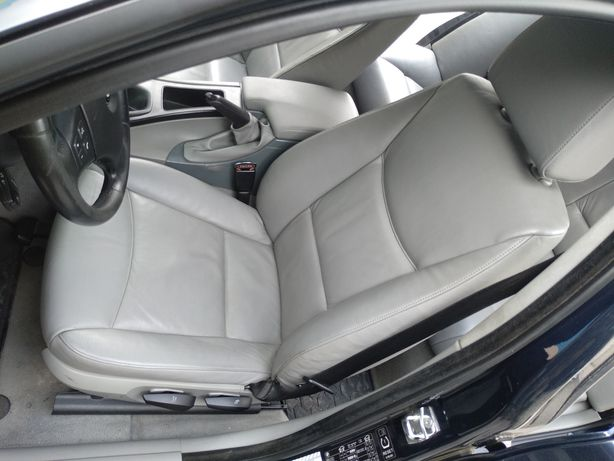 БМВ е90 салон серый кожаный