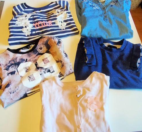 Bluzki i sukienka 134-140
