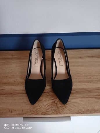 Buty czarne obcasy Esmara roz. 38